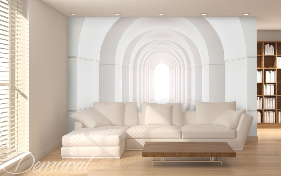 "Photo wallpaper ""Endless tunnel"" - small room"