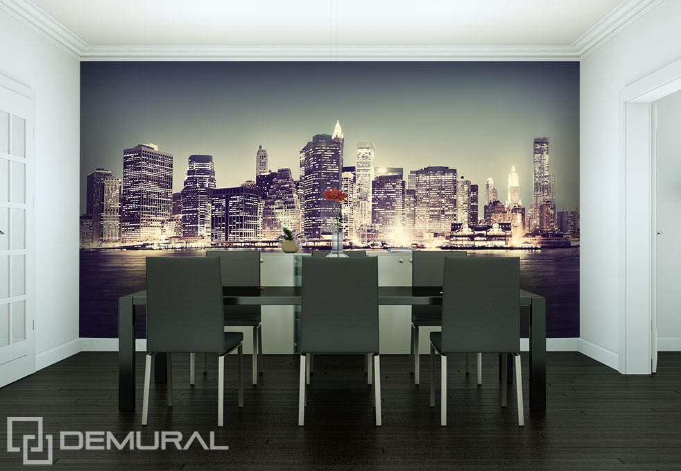"Photo wallpaper ""In the big city"" - Small room"