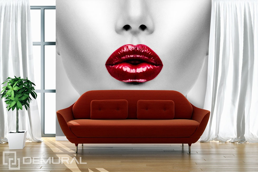 """""""Red lips"""" - Photo wallpaper for size"""