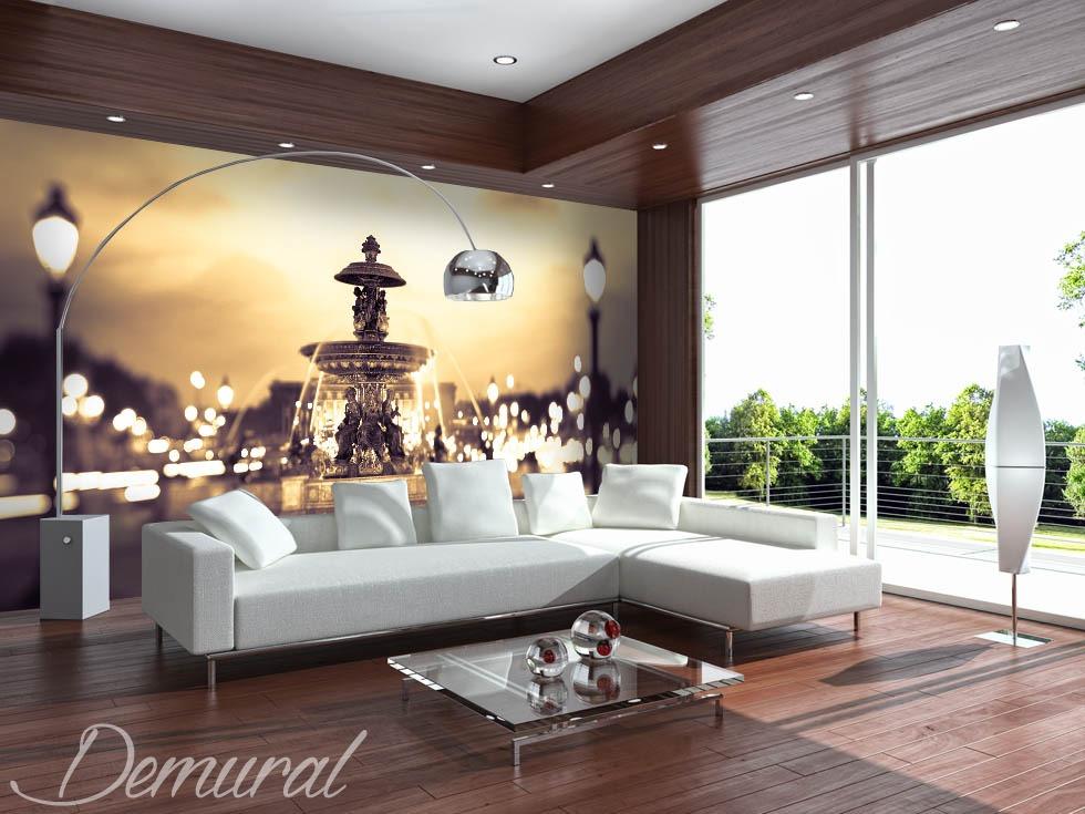A private fountain - Sepia photo wallpaper