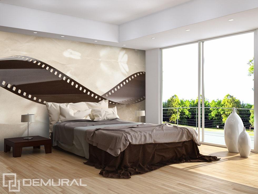Wavy plate - Sepia photo wallpaper