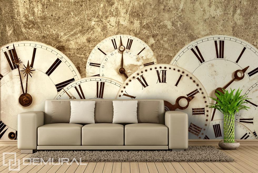 It tells the time - Sepia photo wallpaper