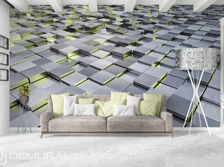 In the geometric environment - 3D wall murals