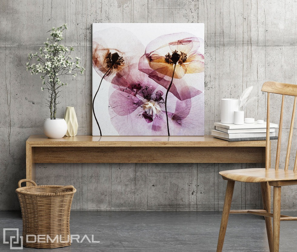 Unusual flowers - A magic of nature - Canvas print