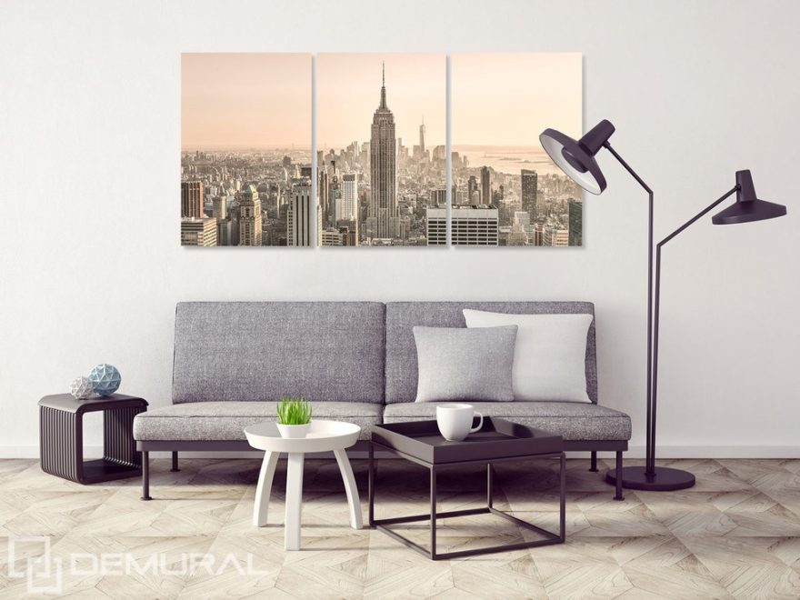 At the morning of the urban jungle - Canvas print