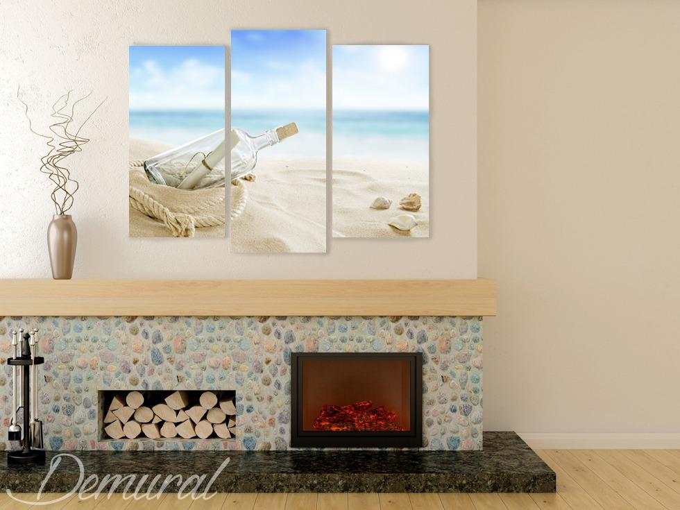 Canvas print - A sea trilogy - Sea motive