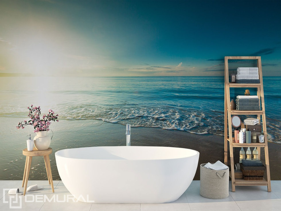 Diving into the deep waters - Bathroom photo wallpaper