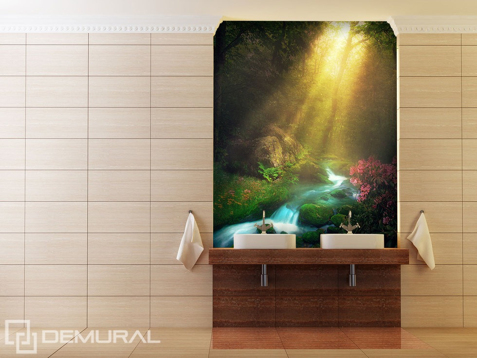 In the beautiful dawn hour - Bathroom photo wallpaper