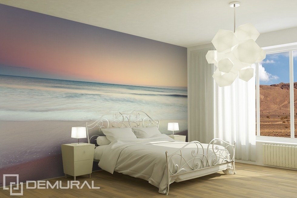 "Photo wallpaper "" The sound of the sea"" - Pastel photo wallpaper - Demural"