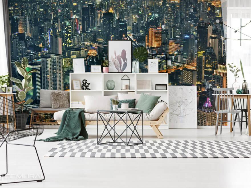 "Photo wallpaper ""City lights"" - City photo wallpaper - Demural"