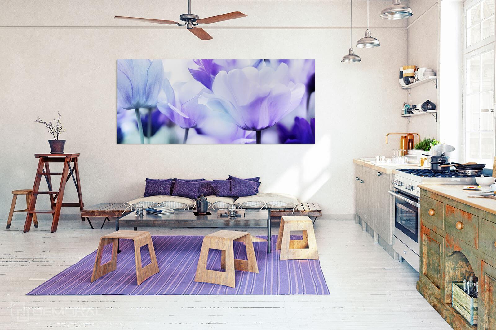 Canvas print - Purple tulips - Flower canvas - Demural