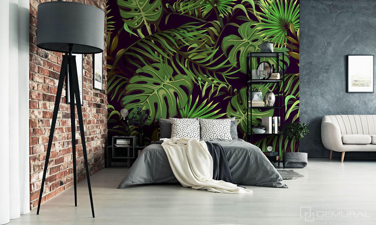 Photo wallpaper secret Garden - Photo wallpaper in tropical leaves - Demural