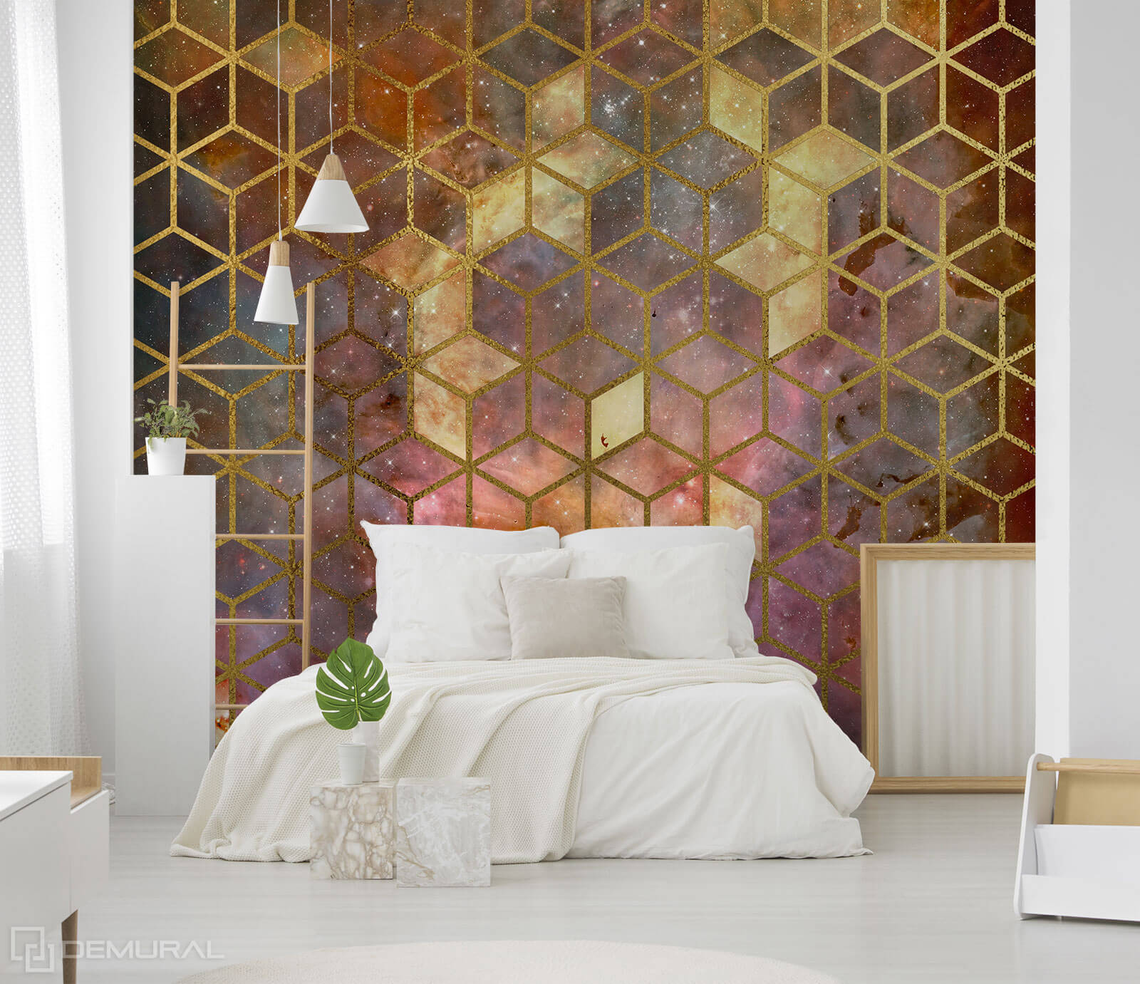Photo wallpaper Cobic cosmos - Geometric photo wallpaper - Demural