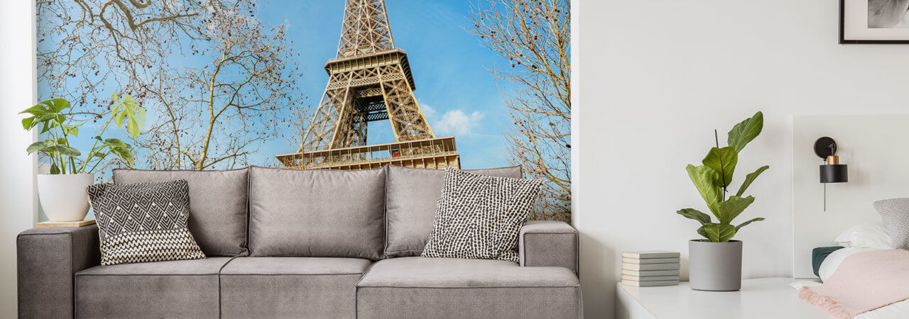 Photo wallpaper with Eiffel Tower