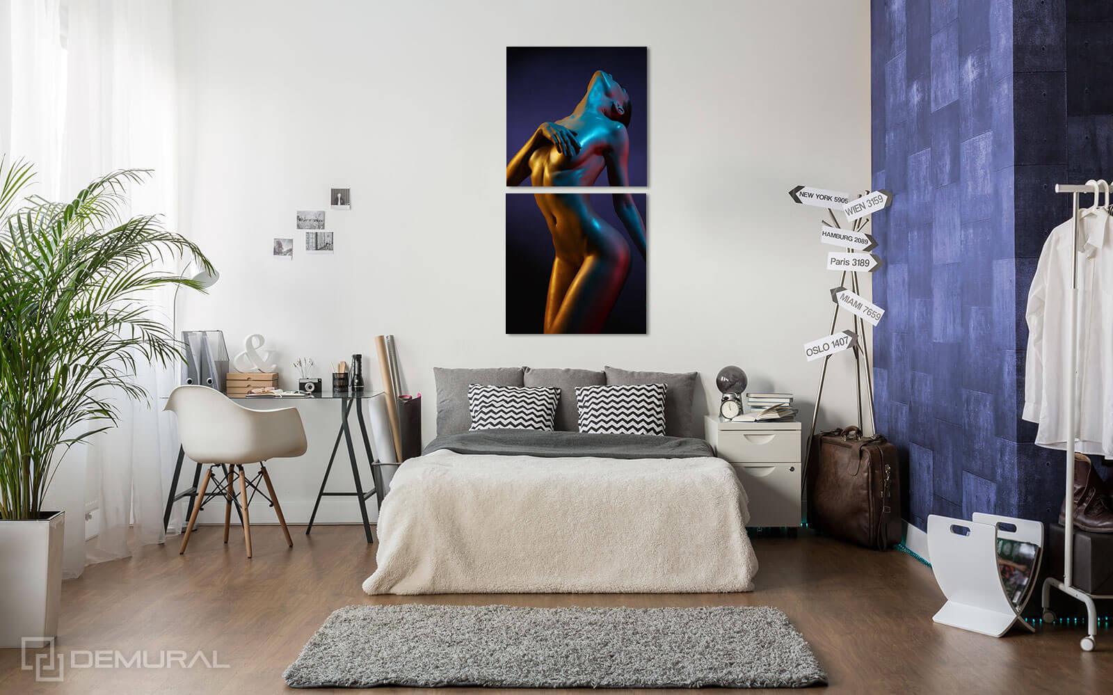 Canvas print Sensual Colors - Act canvas print - Demural