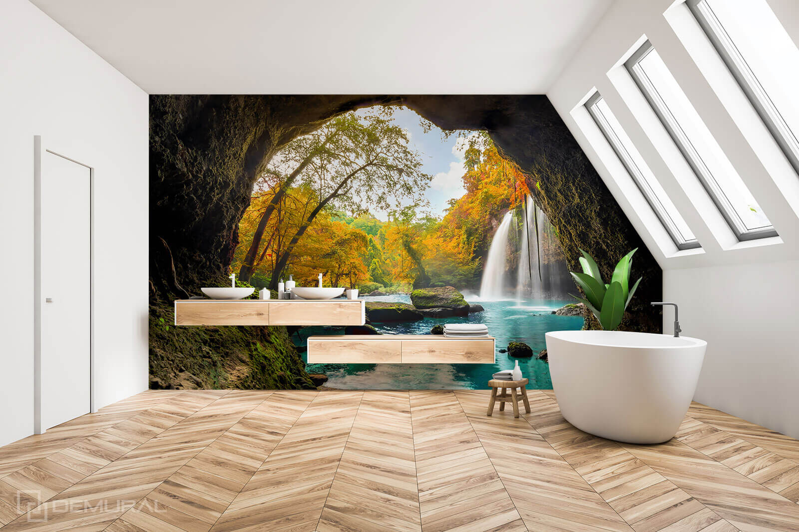 Photo wallpaper Private Oasis - Photo wallpaper in bathroom - Demural
