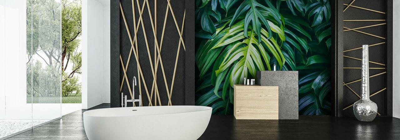 Photo wallpaper in bathroom - Demural