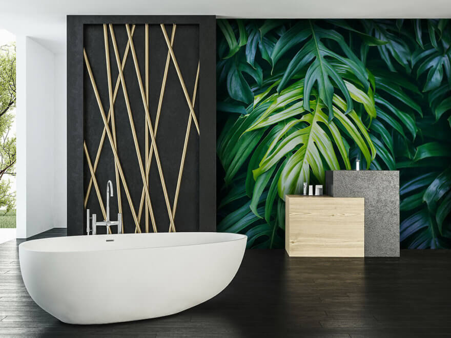 Photo wallpaper in bathroom - Demural