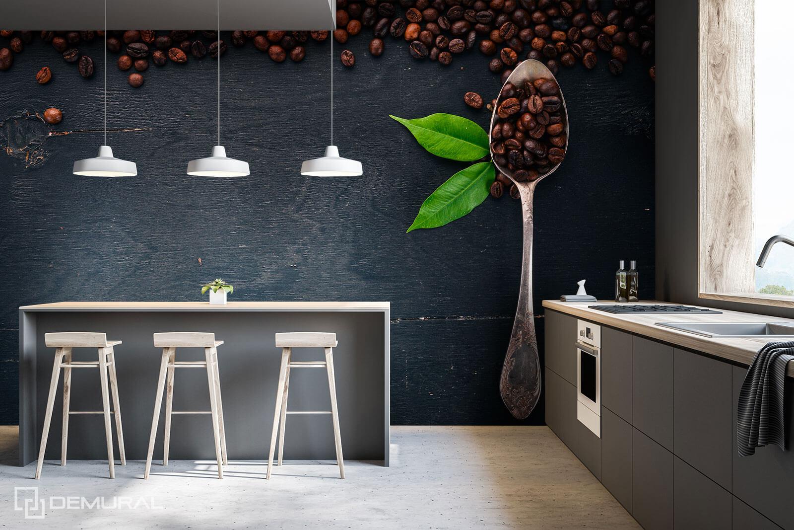 Photo wallpaper Spoon of style - Coffee Photo wallpaper - Demural