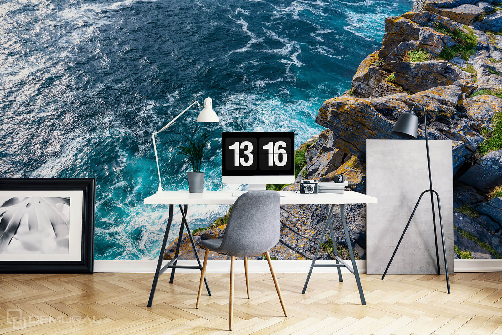 Photo wallpaper Sea Clifs - Sea photo wallpaper in office - Demural