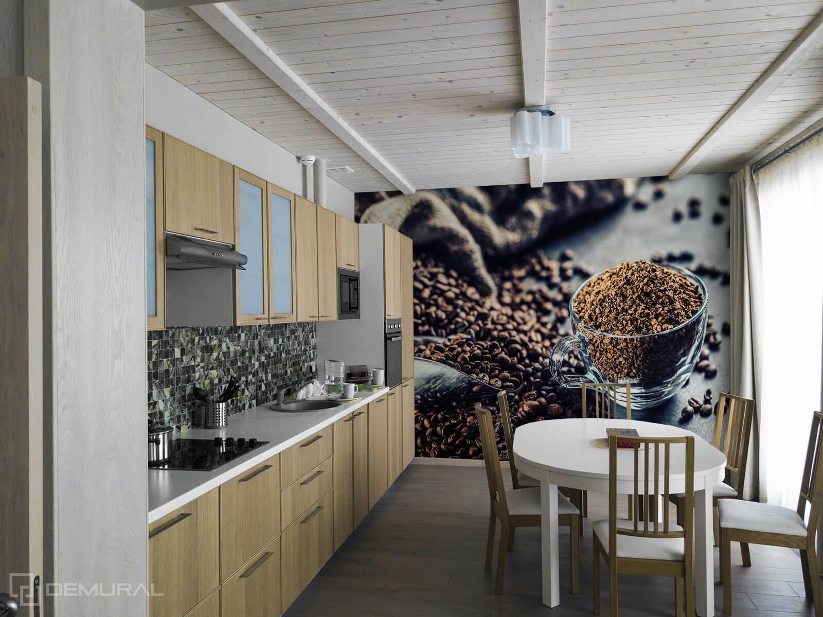 Photo wallpaper Coffee Aroma - Photo wallpaper in big kitchen - Demural