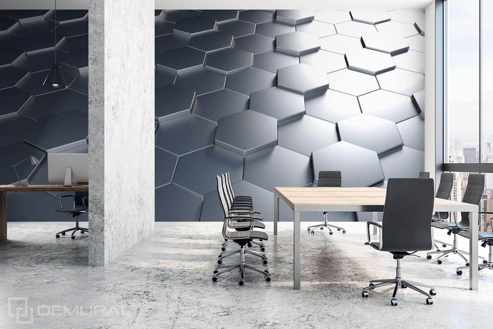 Photo wallpaper 3D Hexagons - Photo wallpaper 3D - Demural