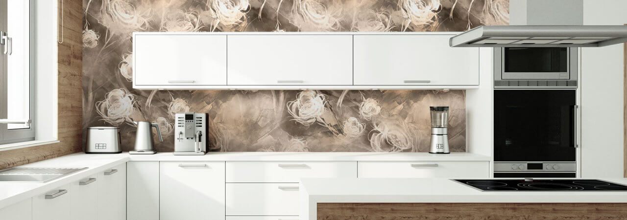 Photo wallpaper in big kitchen - Demural