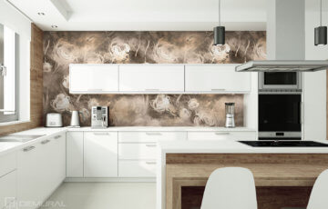 Photo wallpaper in big kitchen - Demural