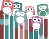 Smart owls - Happy birds