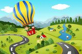 Balloon flight over the unknown lands