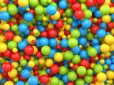 Mixed colours - rainbow balls