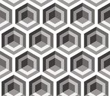 Grey hexagons - abstract