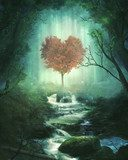 With heart for nature - magic tree