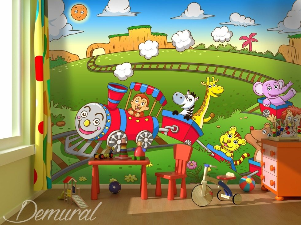 Toys switched on child 39 s room wallpaper mural photo for Child mural wallpaper