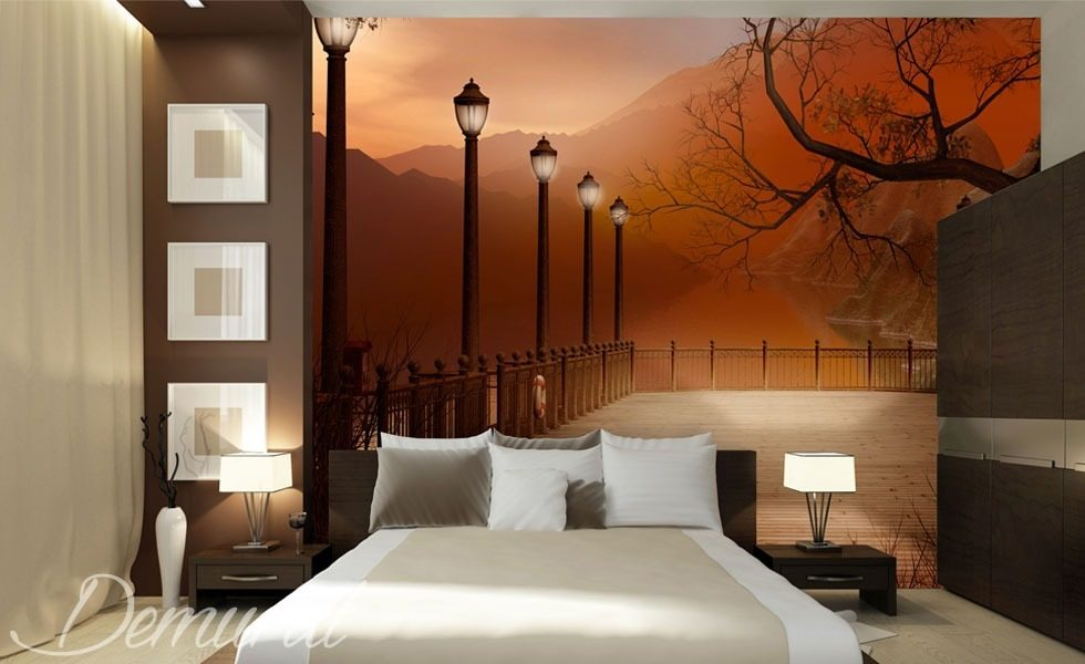 An evening bedroom with a view bedroom wallpaper mural - Tapisserie chambre a coucher adulte ...