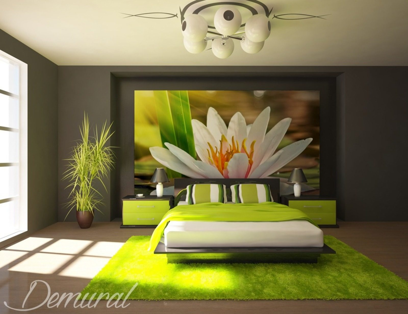 an oriental oasis of peacefulness wall murals and photo wallpapers in bedroom photo. Black Bedroom Furniture Sets. Home Design Ideas