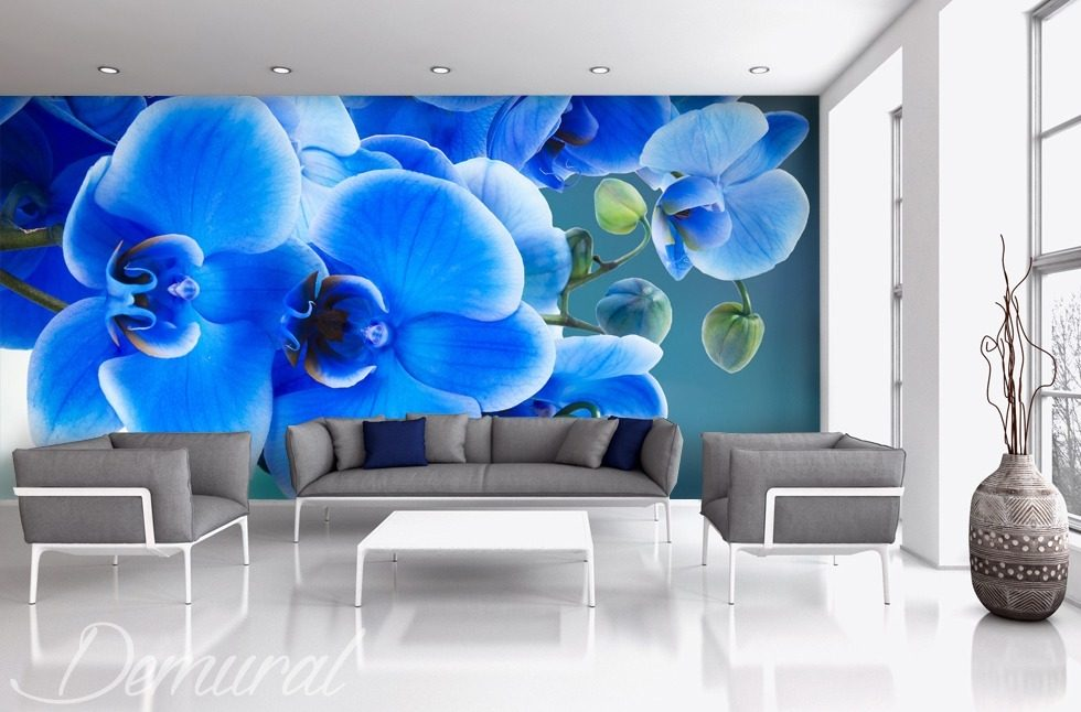 Azzurro that is, bluely Living room wallpaper mural Photo wallpapers Demural