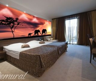 say goodbye to africa goodnight savanna animals wallpaper mural photo wallpapers demural