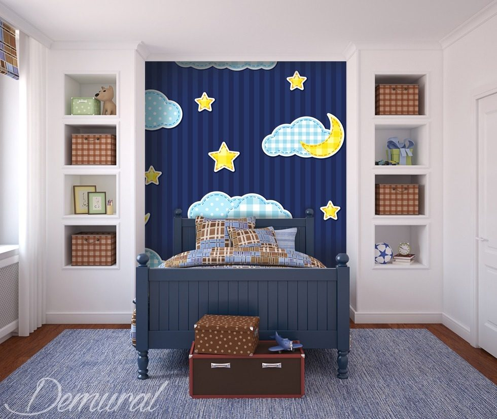 Patchwork dreams Boy's room wallpaper mural Photo wallpapers Demural