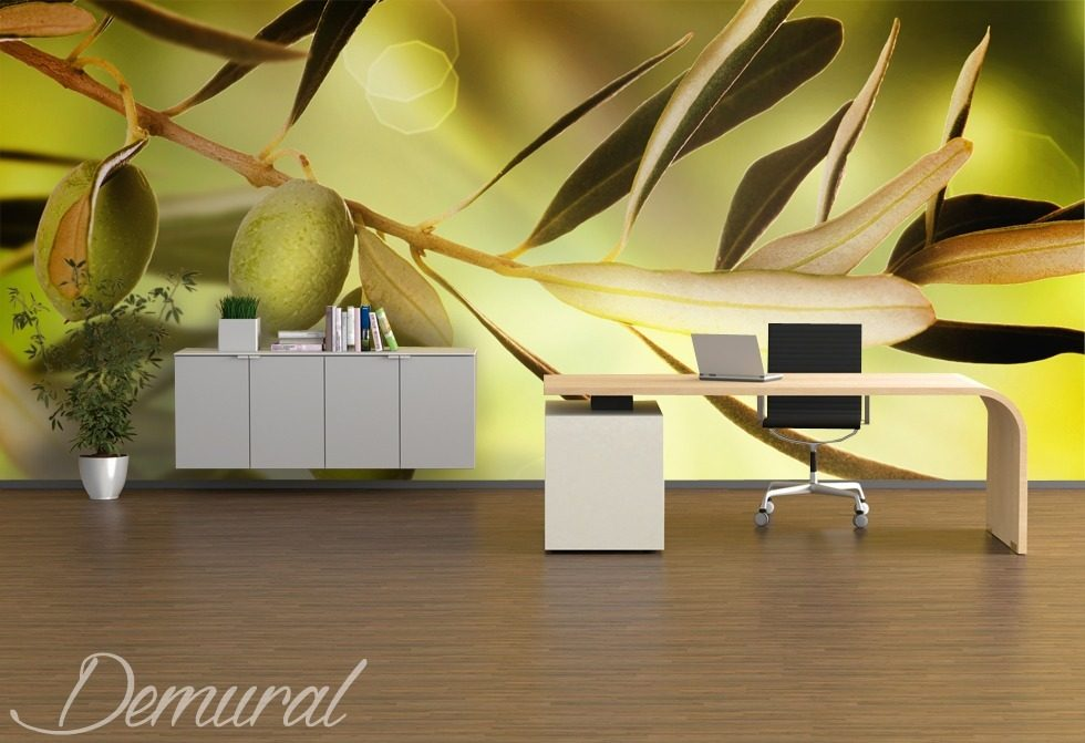 In an office grove Office wallpaper mural Photo wallpapers Demural