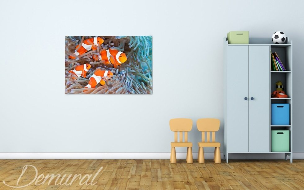 A mural aquarium Canvas prints in child's room Canvas prints Demural