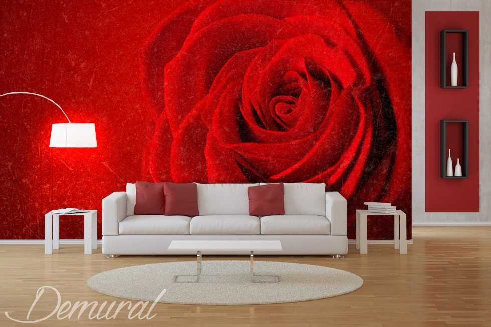The rose is always red Living room wallpaper mural Photo wallpapers Demural