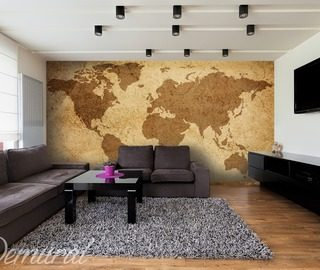 private lessons in geography world maps wallpaper mural photo wallpapers demural
