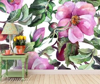 a hibiscus tea flowers wallpaper mural photo wallpapers demural