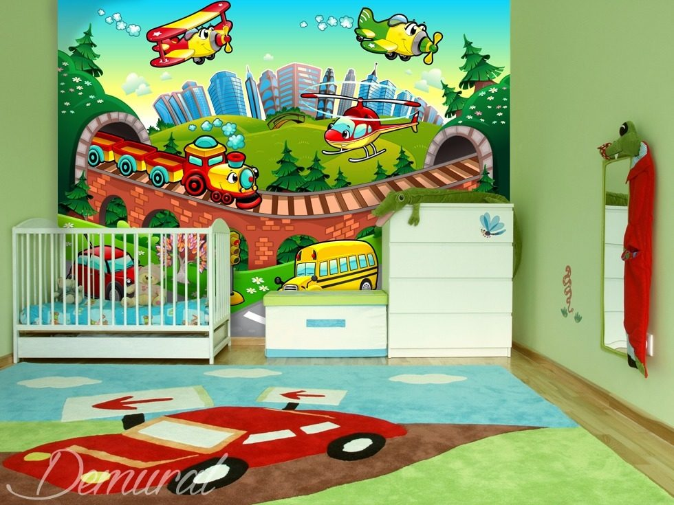 A soft landing Child's room wallpaper mural Photo wallpapers Demural