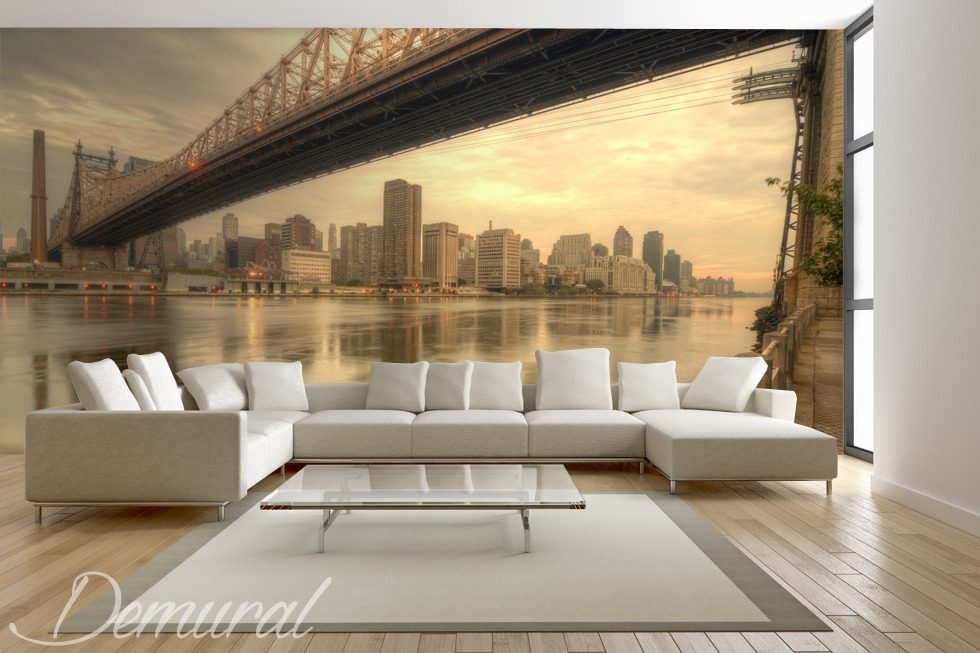 Couches of new york bridges wallpaper mural photo for Wallpaper home new york