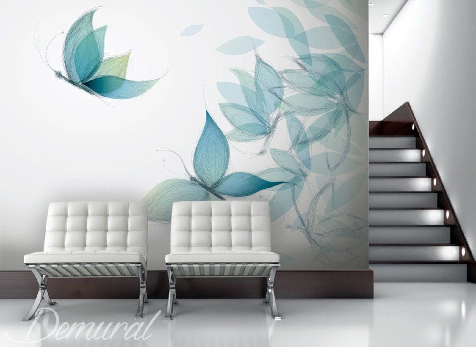 Gaudy as a butterfly animals wallpaper mural photo for Butterfly mural wallpaper