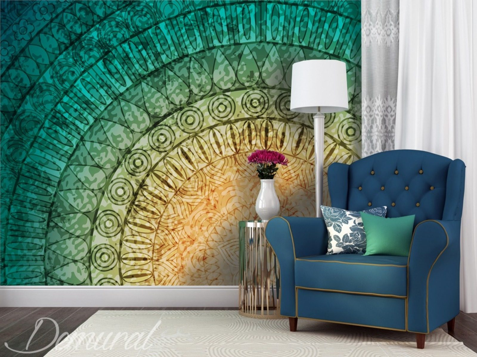 A mural mandala wall murals and photo wallpapers for Mural wallpaper