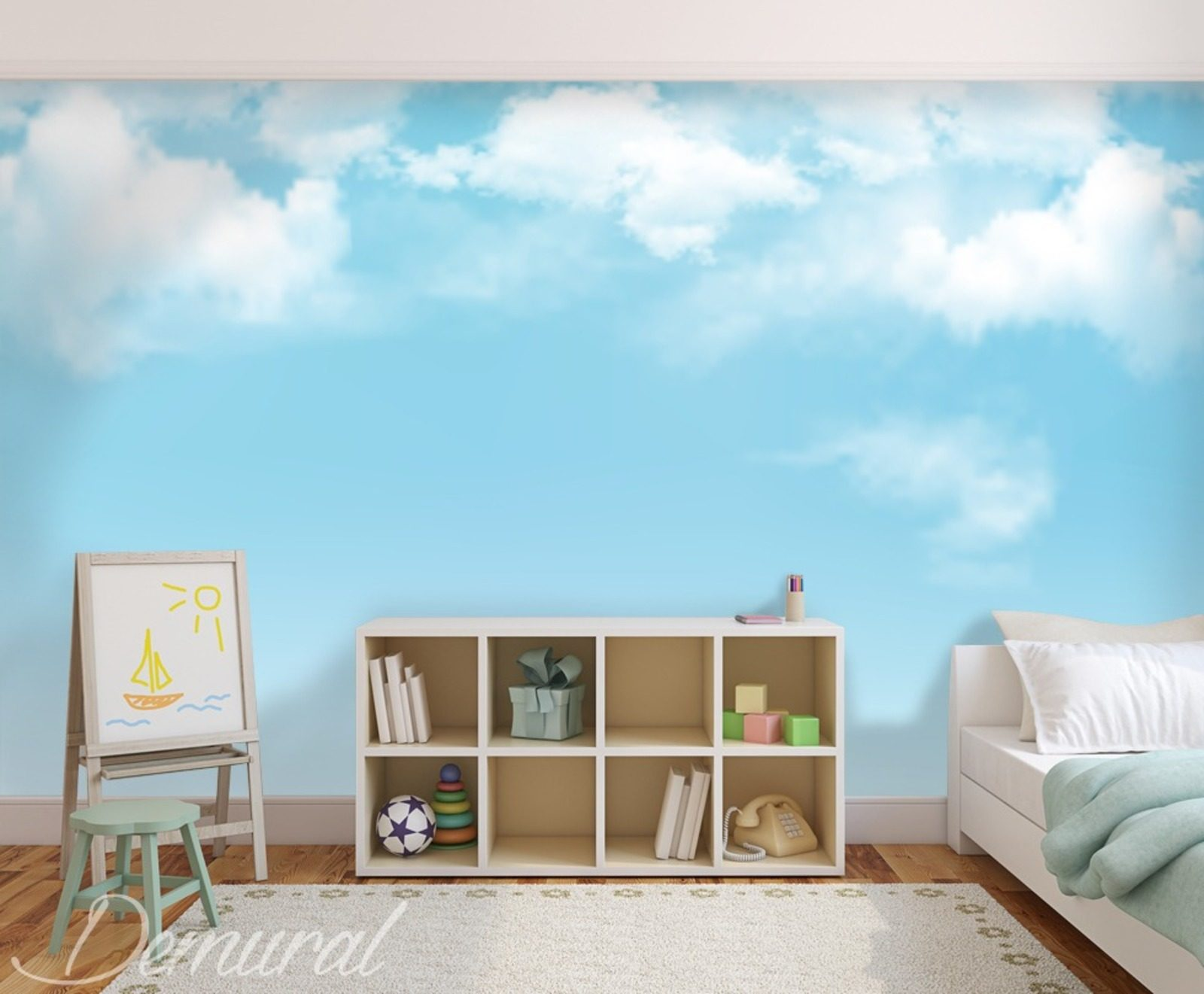 Daydreaming boy s room wallpaper mural photo for Boys mural wallpaper