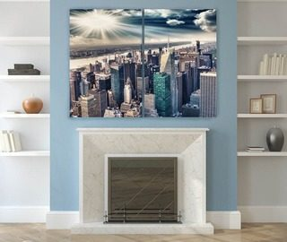 idyllic and big city climate canvas prints cities canvas prints demural